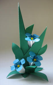 Origami flower forget me not origami flower forget me not arrangementg mightylinksfo