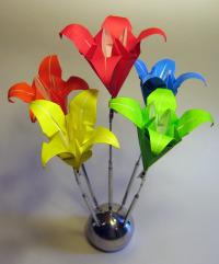 Origami Flower Lilies Sputnik