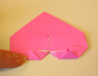 Origami Heart Step 13