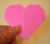 Origami Heart Step 14