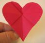 Origami heart flower