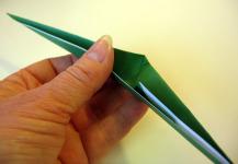 Origami iris leaf step9b
