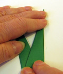Origami iris leaf step11