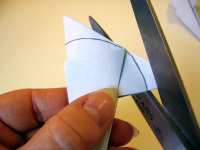 Origami Morning Glory Cut Step 3a