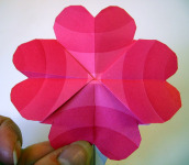 Origami Four-Heart Flower