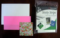Origami valentine card materials