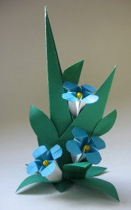 Origami Flower Forget Me Not
