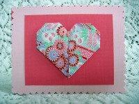 Origami valentine card