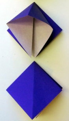 Example of an origami squash fold