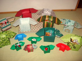 Origami candy dish boxes