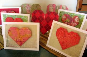 Origami valentines