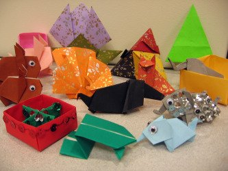 Origami projects from library class
